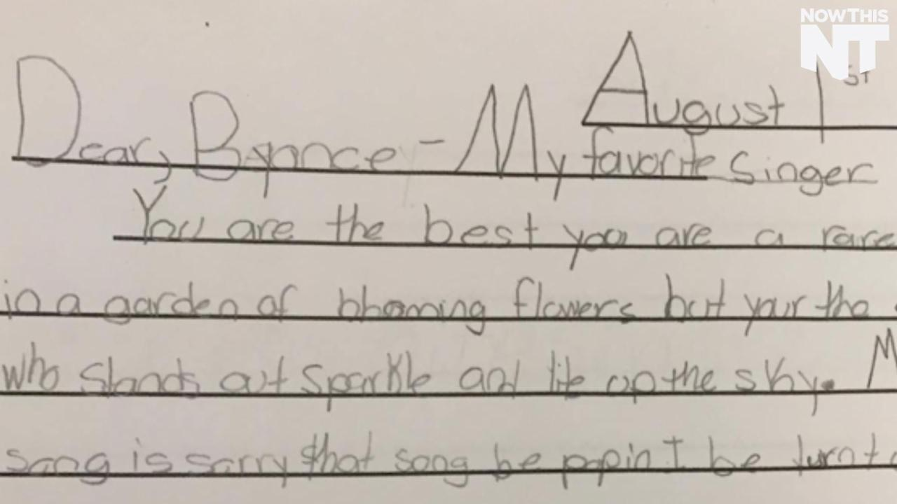 This Kid Wrote an Adorable Letter to Beyoncé