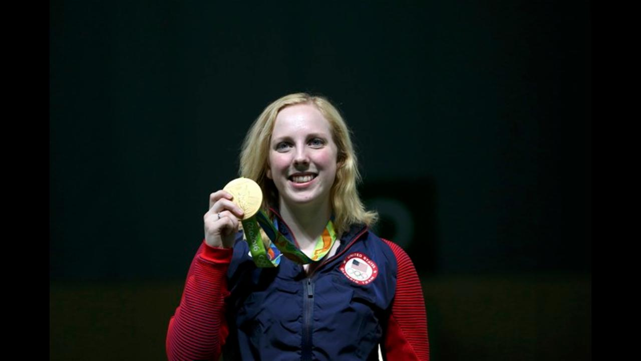 Team USA's Virginia Thrasher wins first gold medal of Rio Olympics