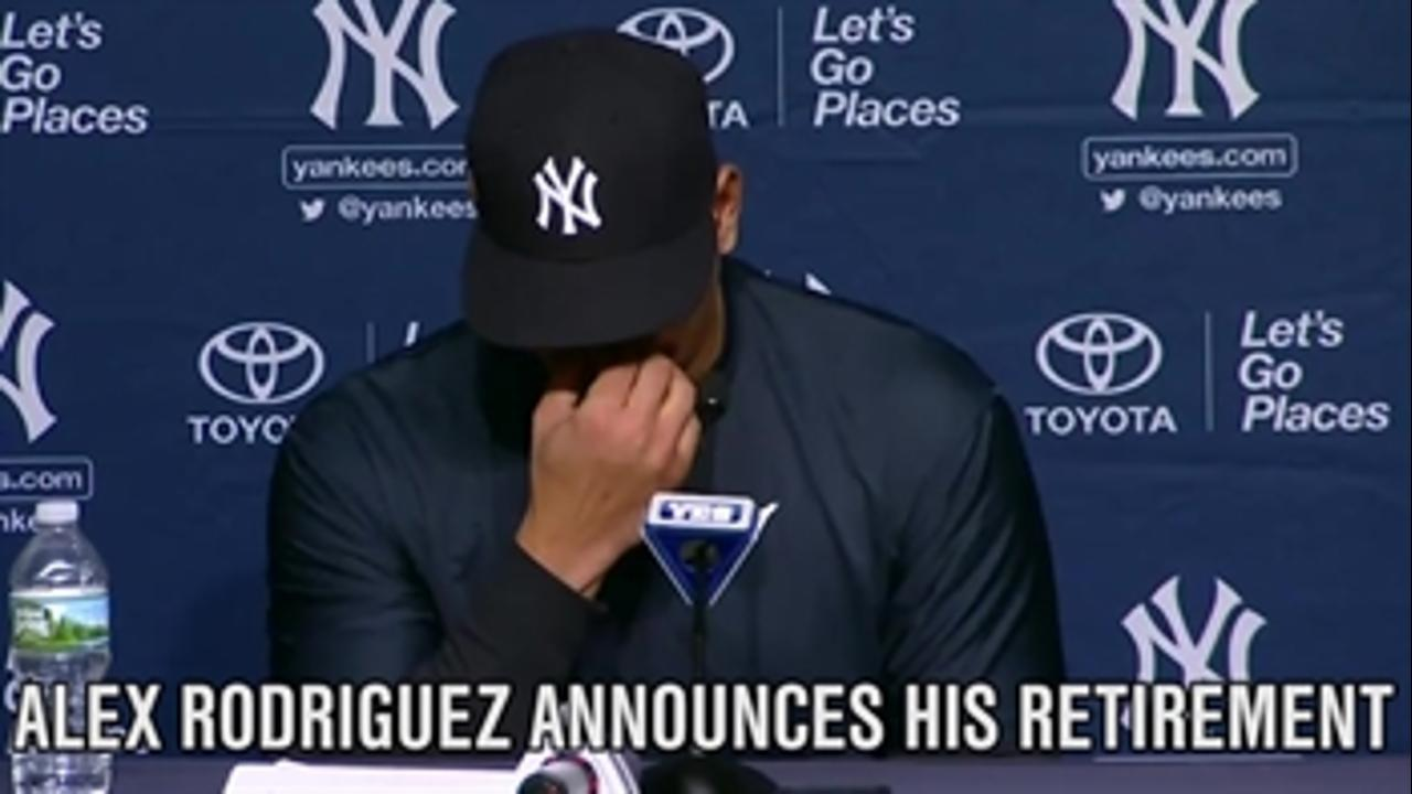 Alex Rodriguez announces his retirement