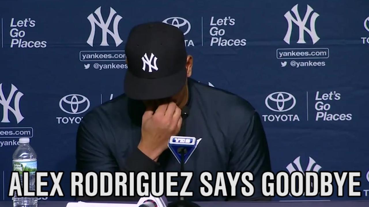 Alex Rodriguez Says 'Goodbye'