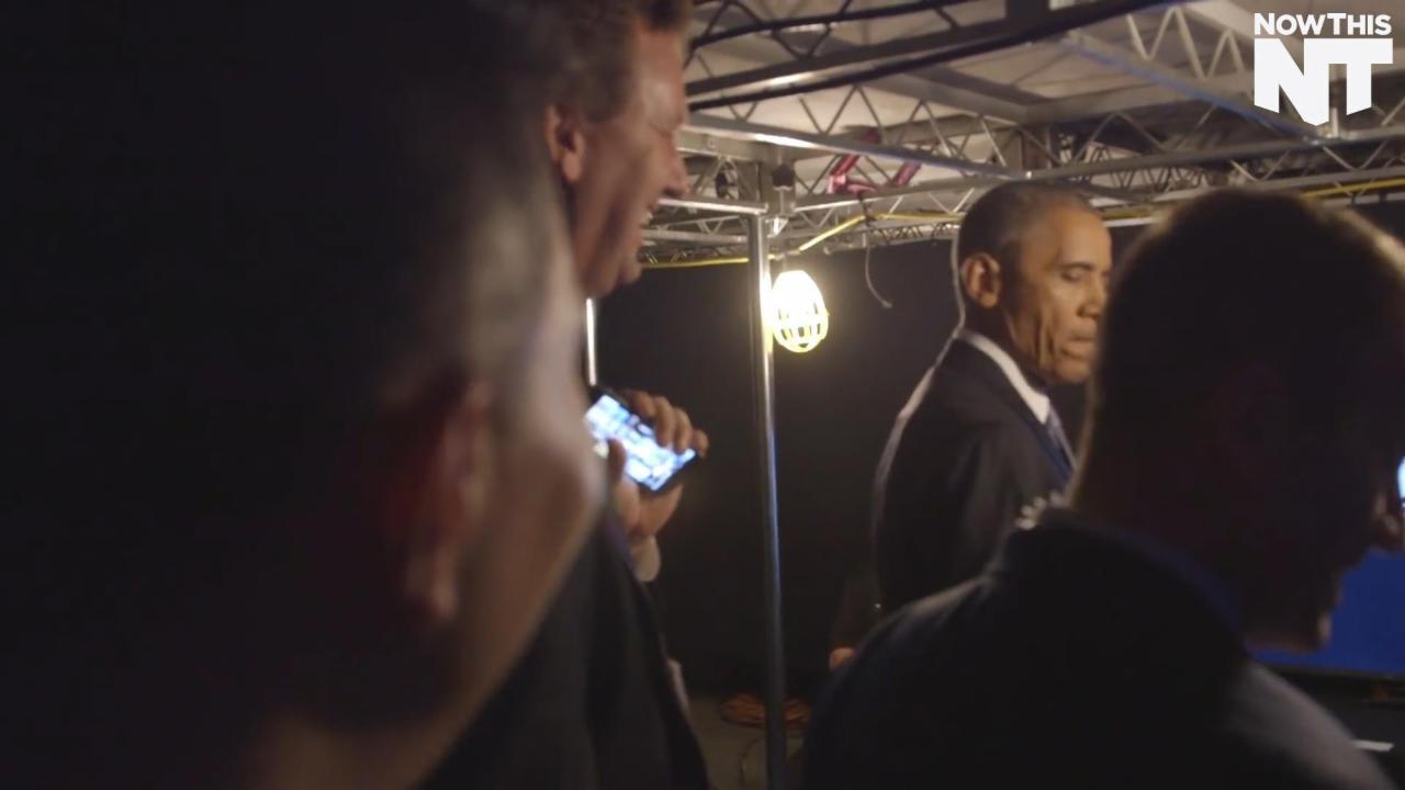 Watch Obama Jam Out to Eminem at the DNC