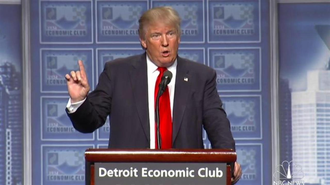 Trump in Detroit: We Are In a Competition with the World