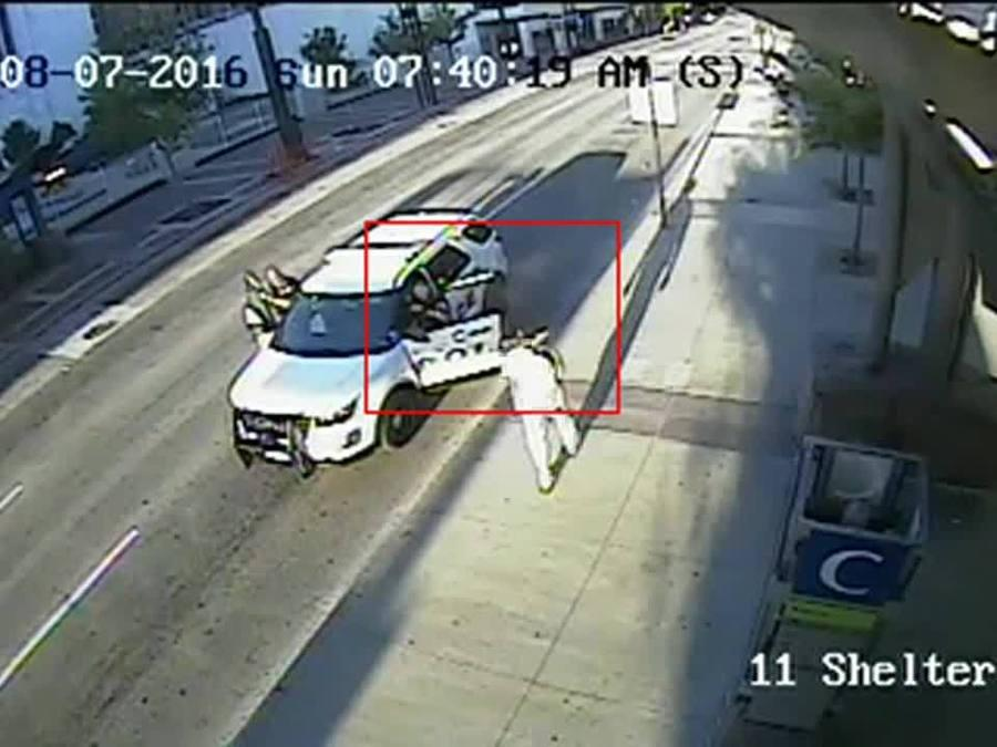 Surveillance footage of deadly police shooting at Government Square