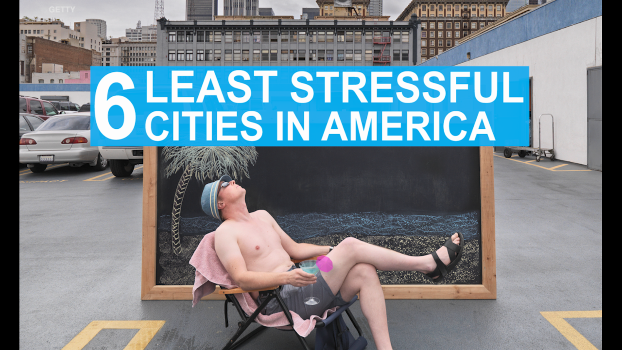 6 Least Stressed Cities in America