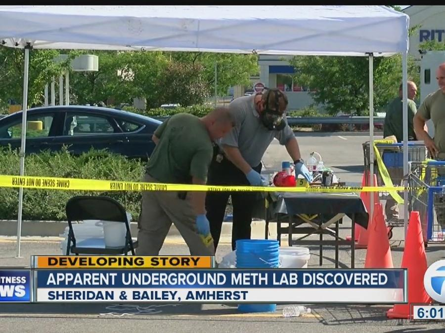 Apparent underground meth lab discovered