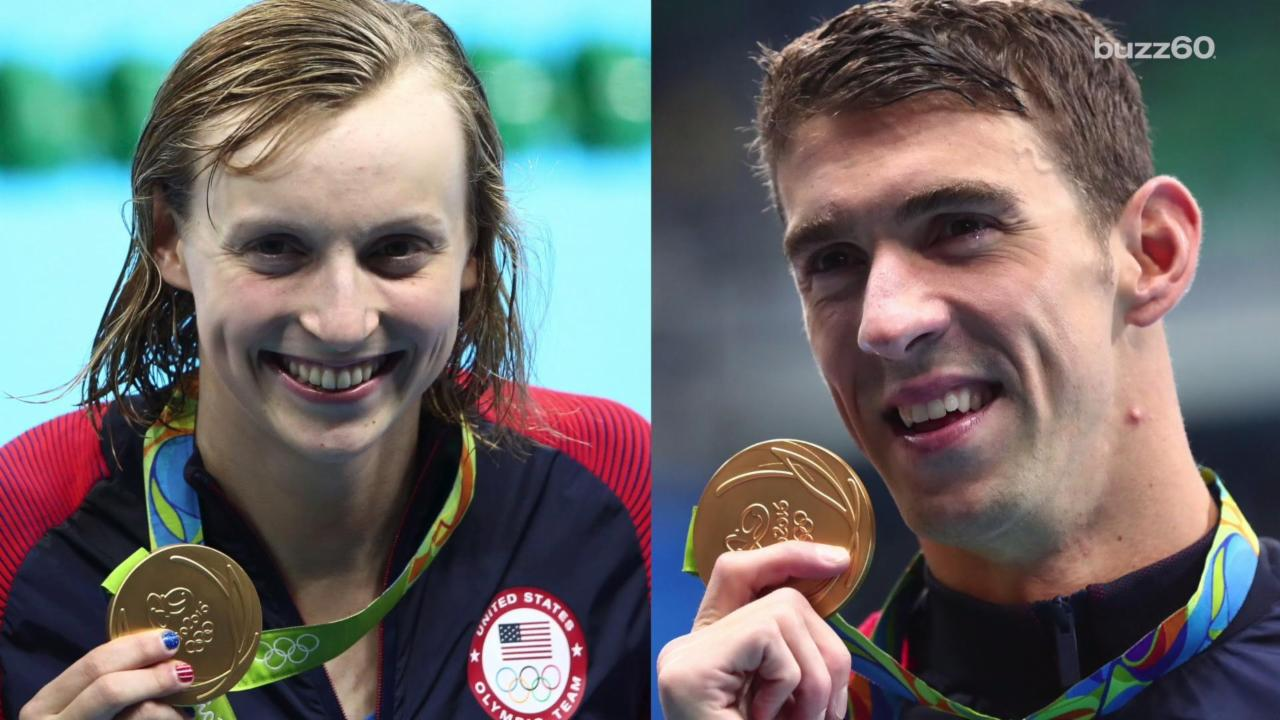 Katie Ledecky and Michael Phelps Go Way Back