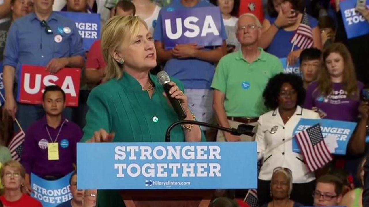 Clinton: Trump's 'Casual Inciting of Violence' Crosses the Line