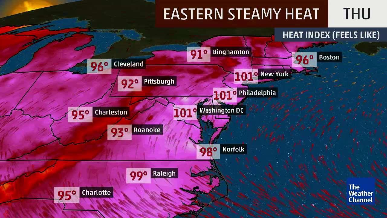 Brutally Hot Weekend for the Northeast
