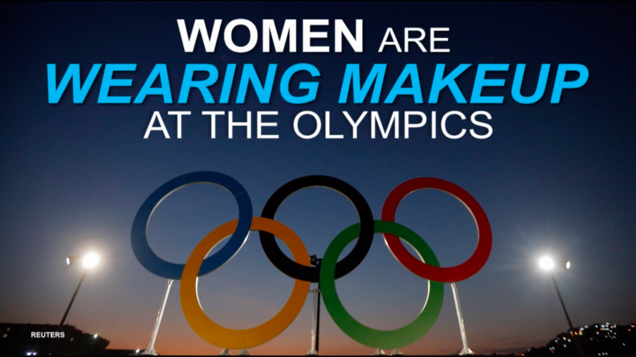 Women are wearing makeup at the Olympics to bust gender stereotypes