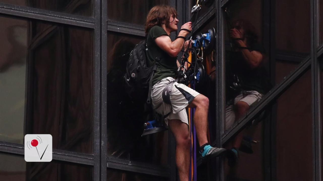 Man Climbs Trump Tower in New York Ctiy