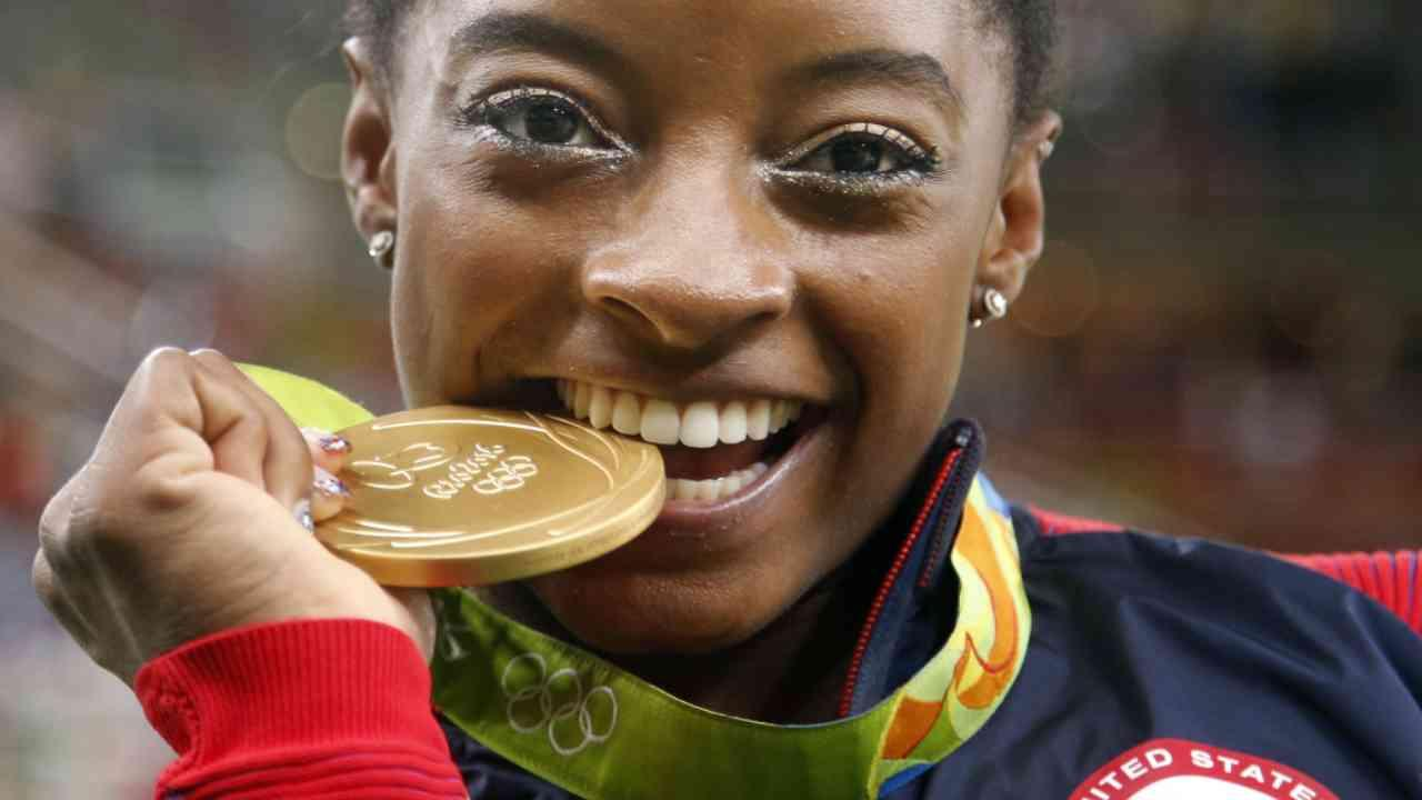 AP: Simone Biles in a League of Her Own