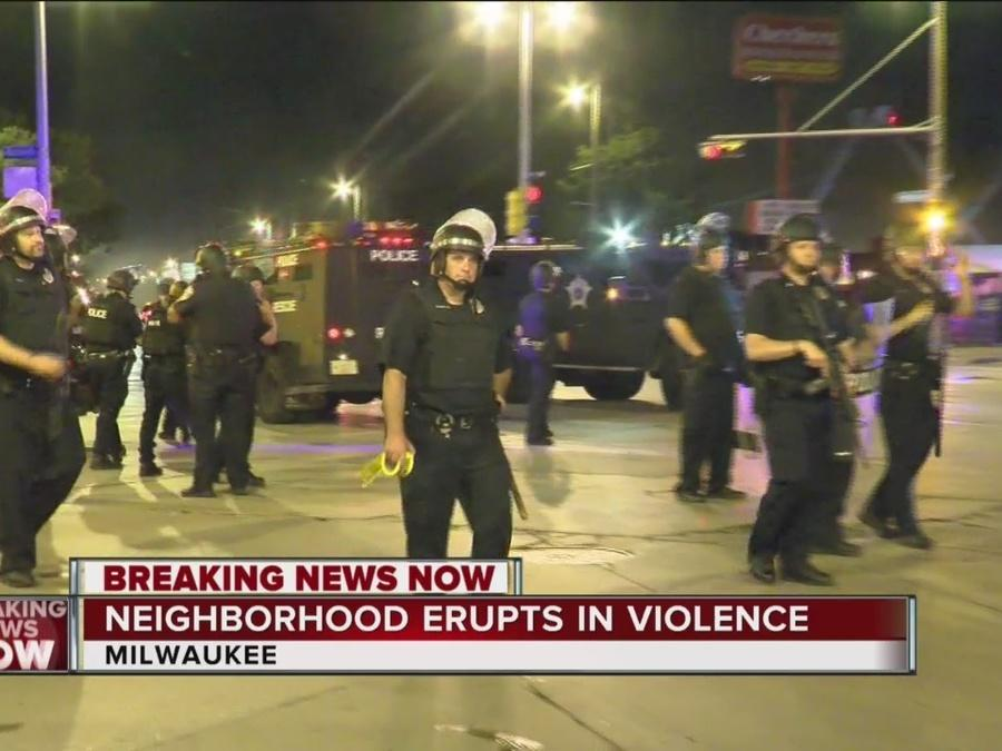 It was a violent night in Milwaukee