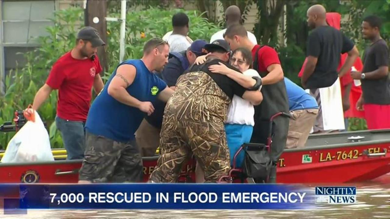 Disaster Zone in Louisiana As More than Seven Thousand People Rescued