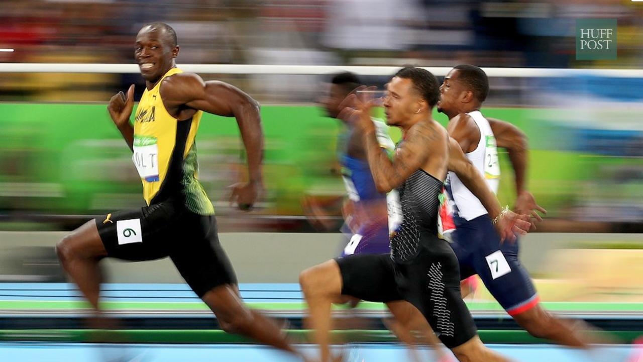 Usain Bolt's Smiling Picture