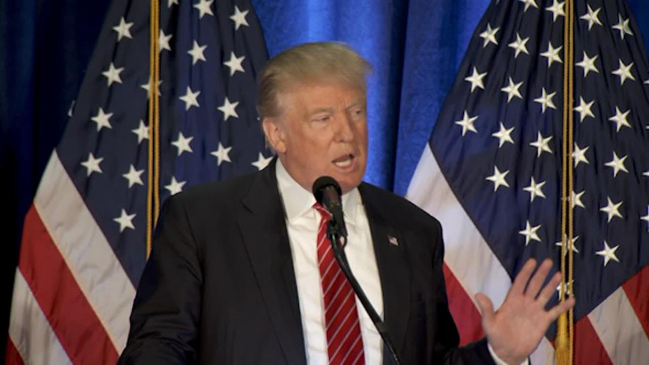 Donald Trump Talks Combating Terrorism