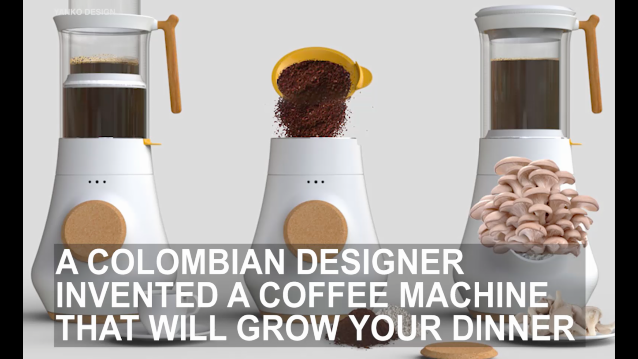 Cool coffeemakers turns your grounds into delicious mushrooms