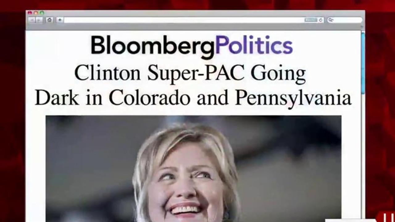 Clinton SuperPAC Suspending Swing State Ads