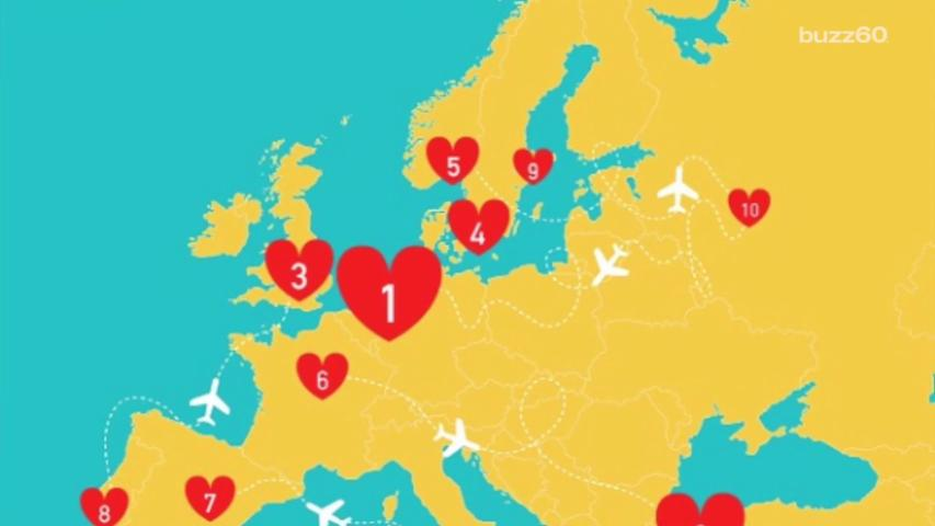 These are the Best Airports to Find 'The One'