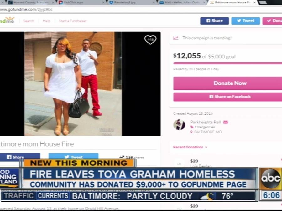 Fire leaves Toya Graham homeless