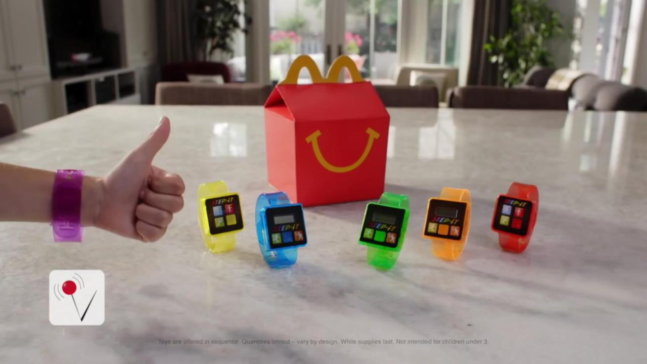 McDonald's Adds Fitness Trackers to Happy Meals