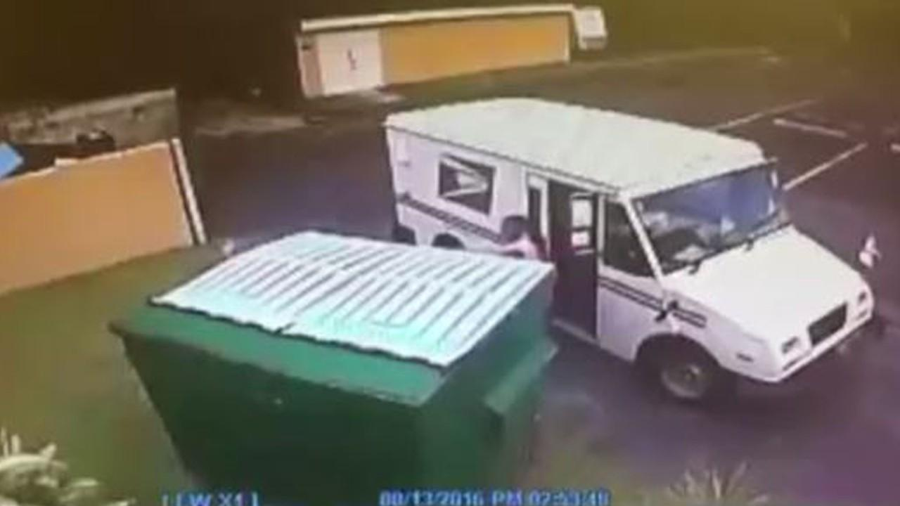 Postal Worker Caught On Camera Tossing People's Mail Into Huge Dumpster