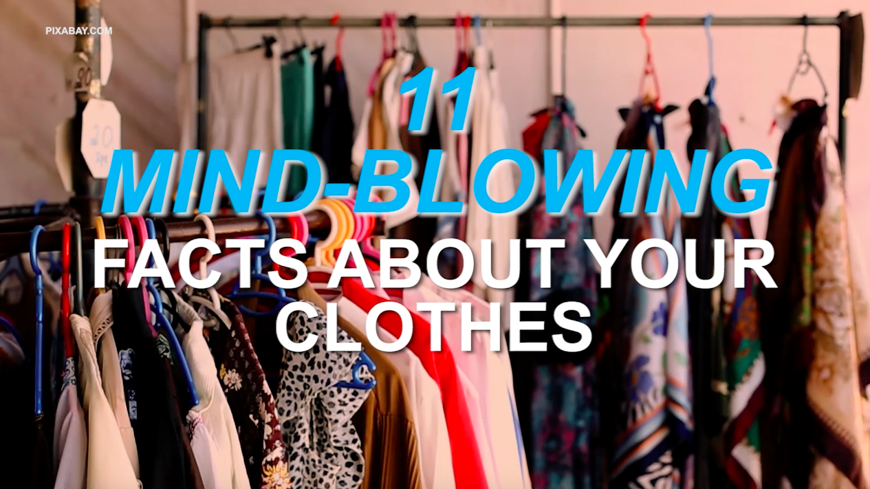 11 Mind-blowing facts about your clothes