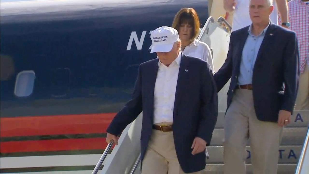 Trump Lands in Louisiana
