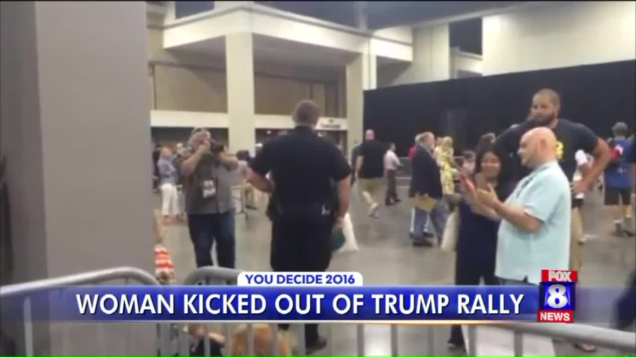 Muslim Woman Kicked Out of Donald Trump Rally