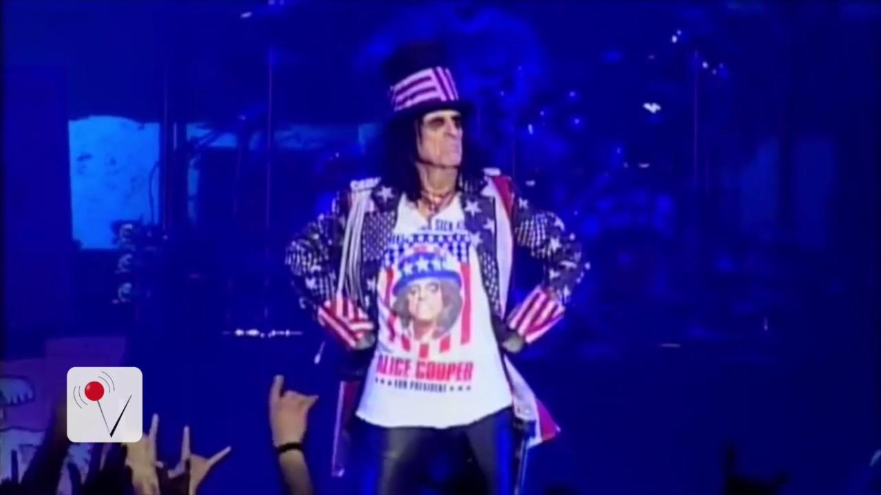 Classic Rock Star Alice Cooper Is (Jokingly) Running for President