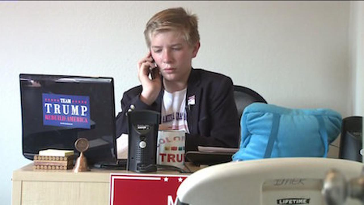 12-Year-Old Boy Helps Open Trump Campaign Office In Colorado
