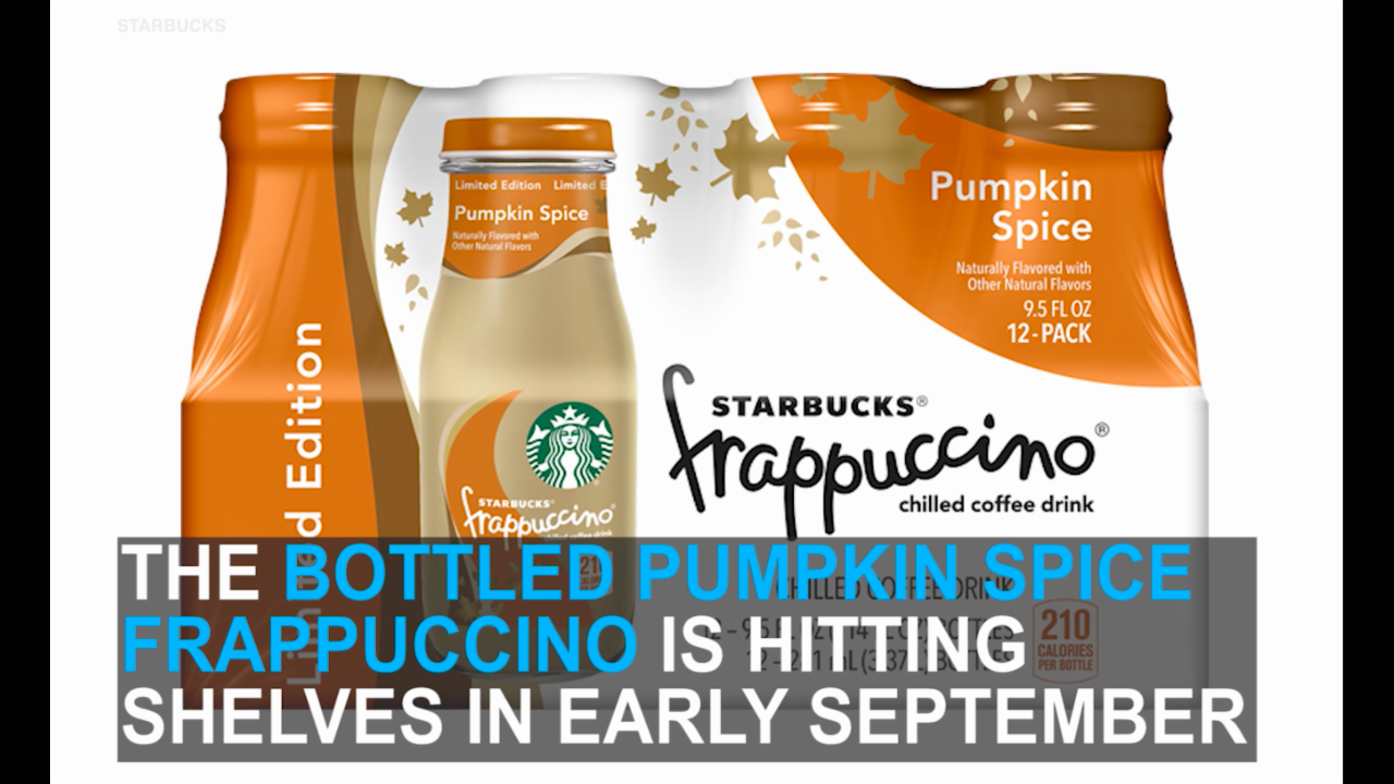 New Starbucks Pumpkin Spice Bottled Frappuccino kicks off autumn
