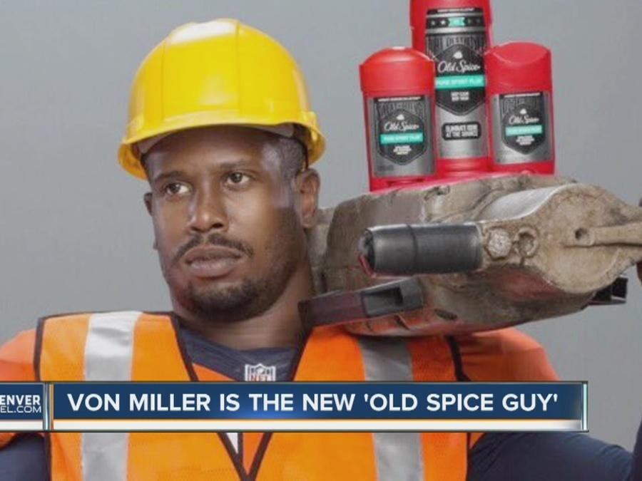 Meet the new Old Spice guy: Von Miller