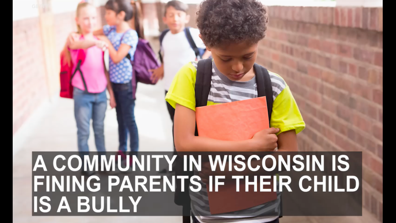 Wisconsin ordinance fines parents of bullies