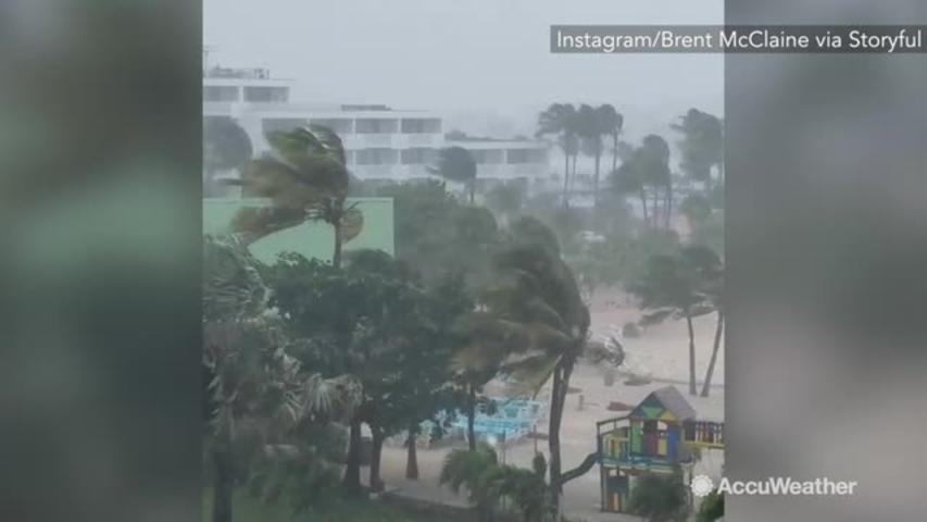 Powerful storm moves into Caribbean