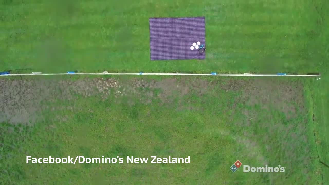 Domino's Trials Drone Pizza Delivery
