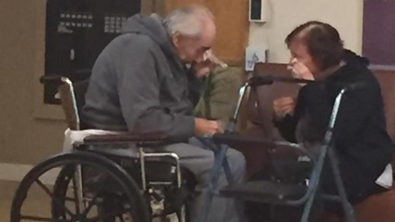 Heartbreaking Photo Shows Elderly Couple In Tears After Being Assigned To Separate Care Facilities