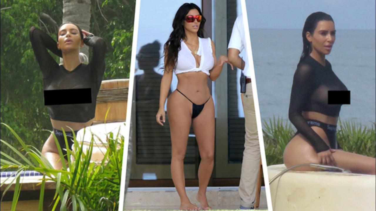 Kim Kardashian Bares It All In Mexico!
