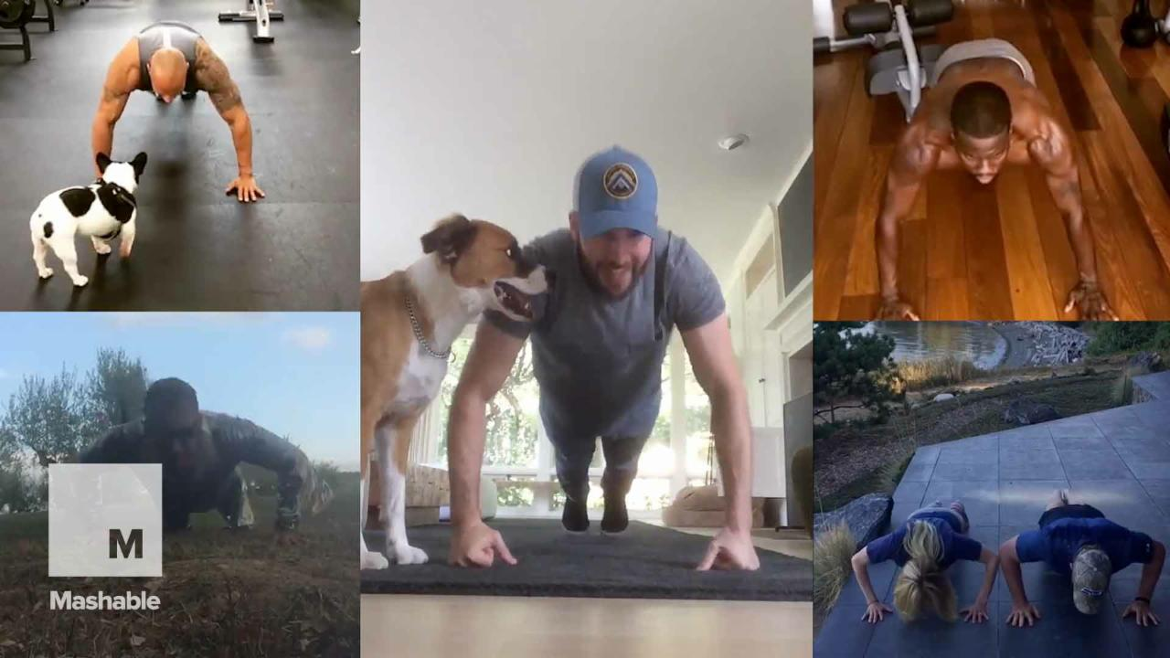 Celebrities Everywhere Are Getting Down for the 22 Push-up Challenge