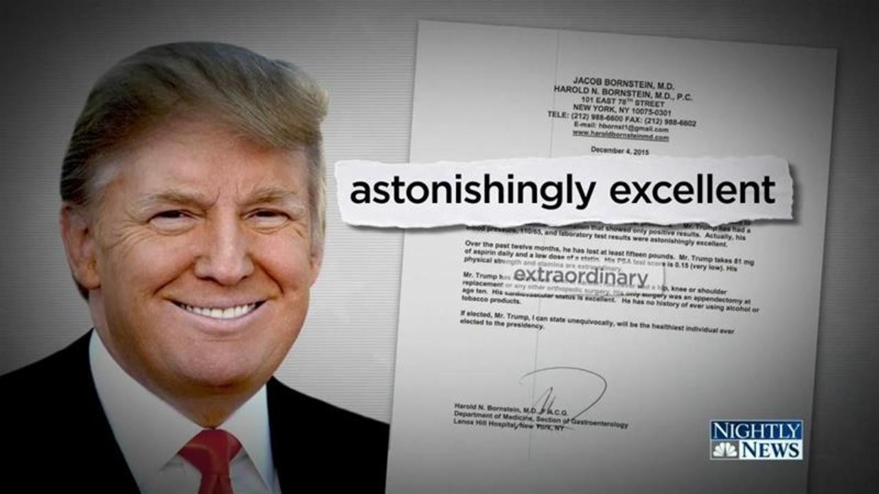 Doctor: Trump's Only Medical Records Documentation Written in 5 Minutes