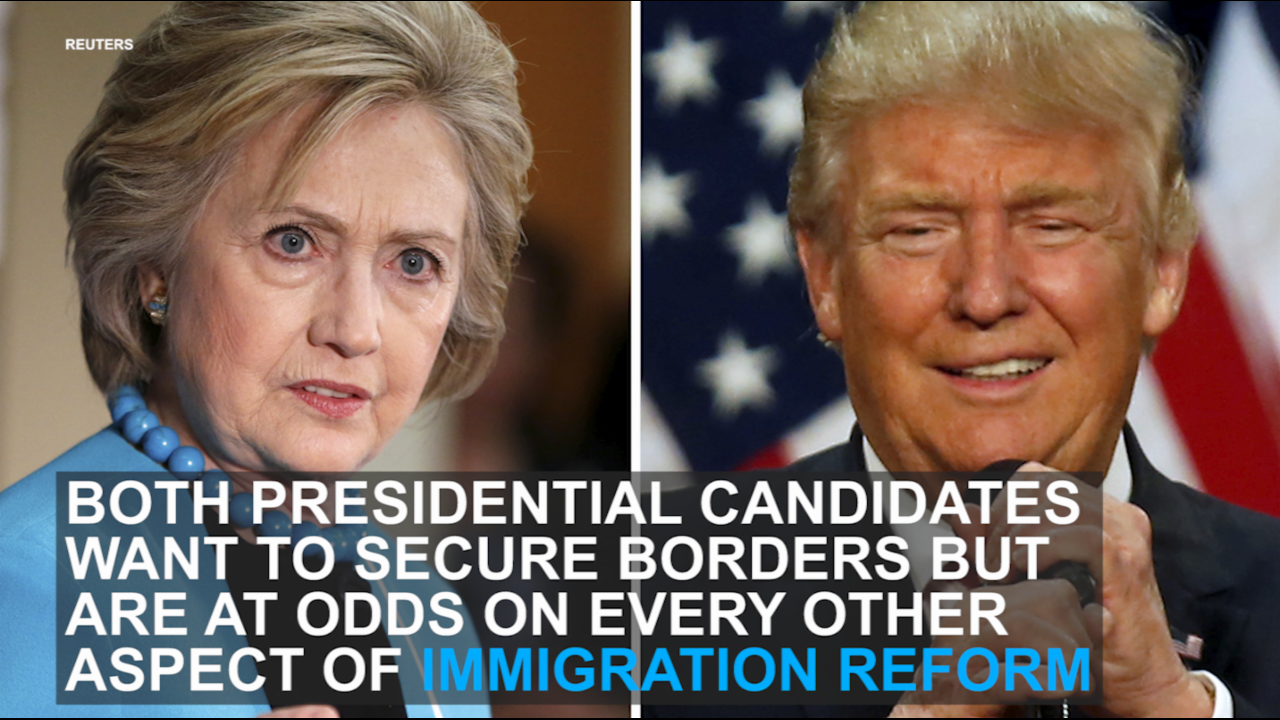 Where Donald Trump and Hillary Clinton stand on immigration reform