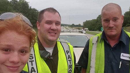 Iowa Woman's Facebook 'Thank You' To State Trooper Goes Viral