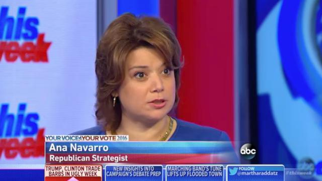 Republican Commentator Ana Navarro Calls Trump