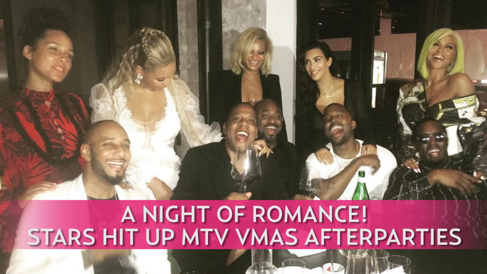 A Night of Romance! Stars Hit Up MTV VMAs Afterparties