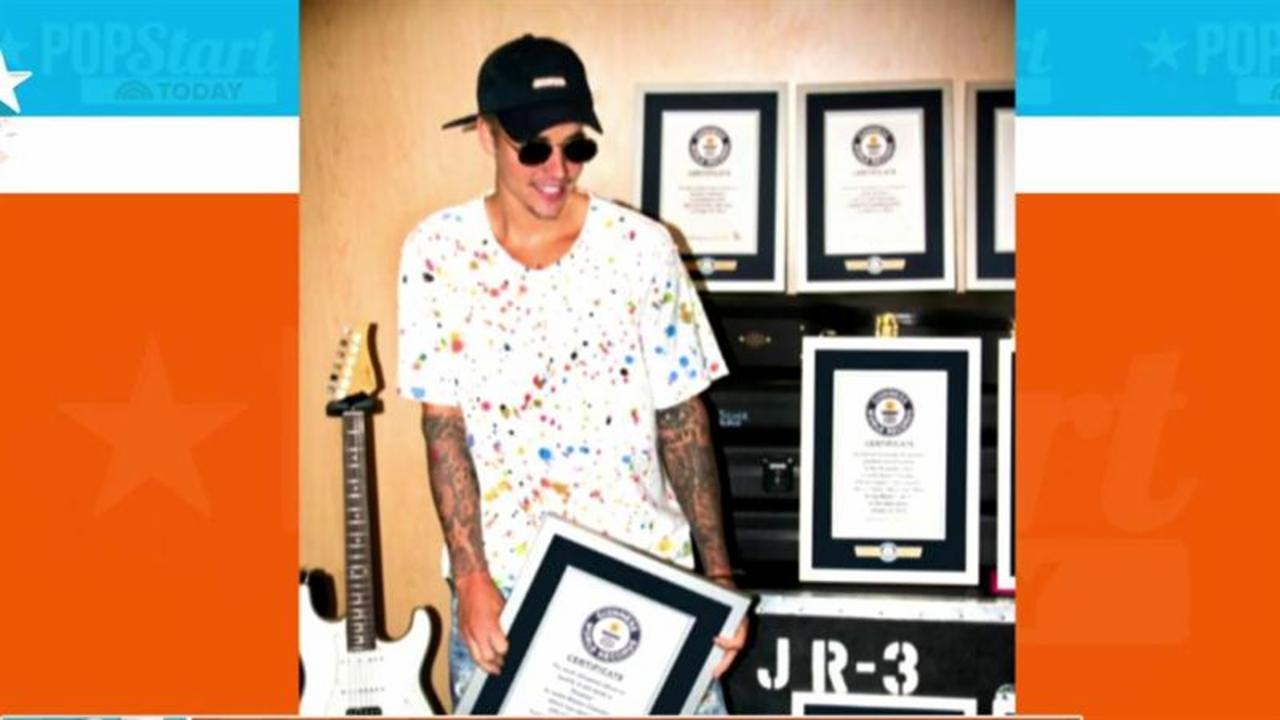 Justin Bieber is in the 2017 Guinness World Records - 8 times!