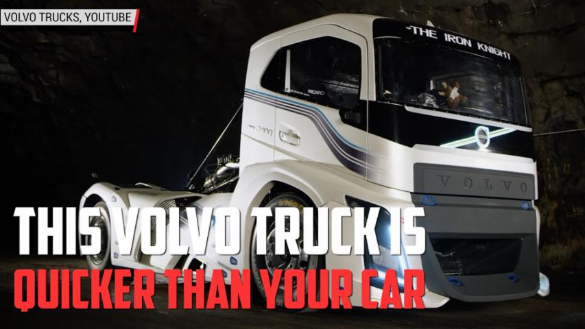 Quickest Truck in the World, Volvo Truck's Iron Knight Semi | Autoblog Minute