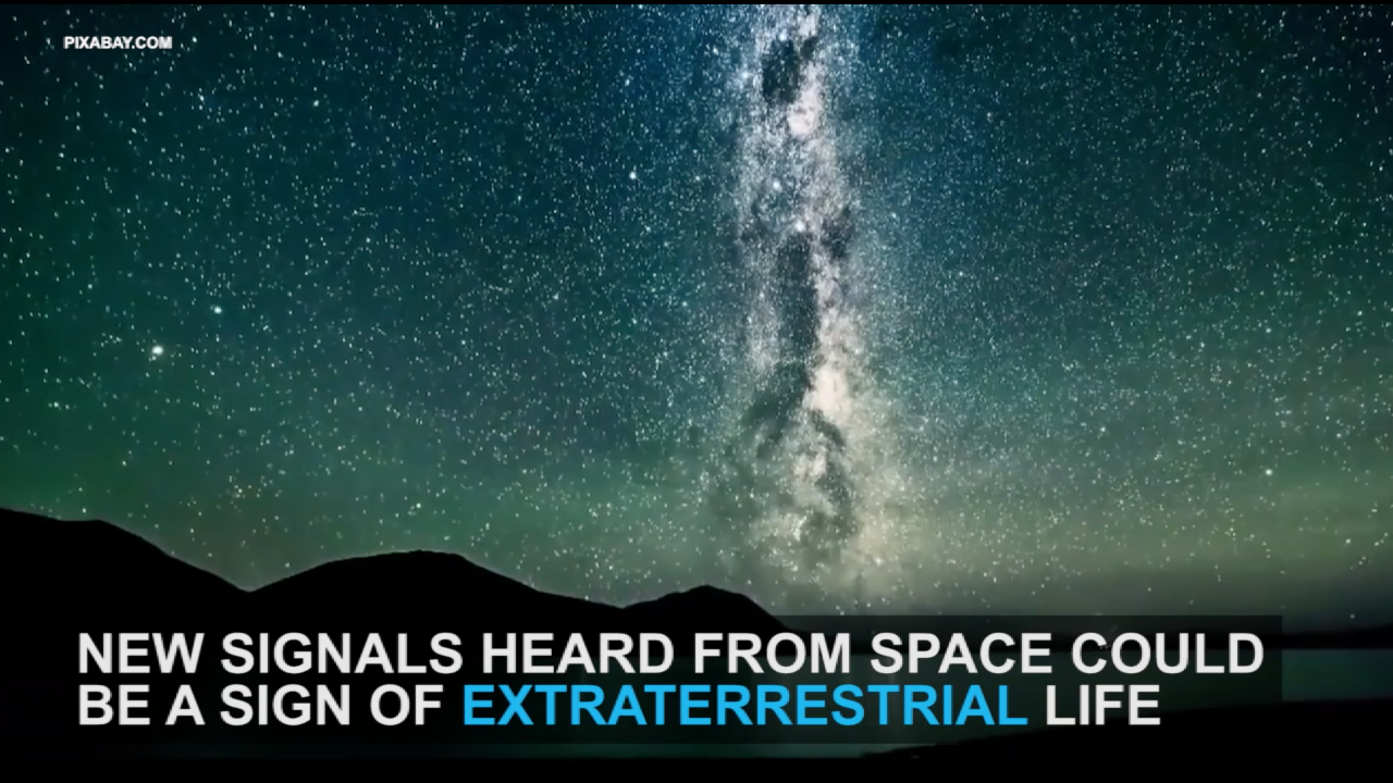 Signals found in space may be linked to aliens