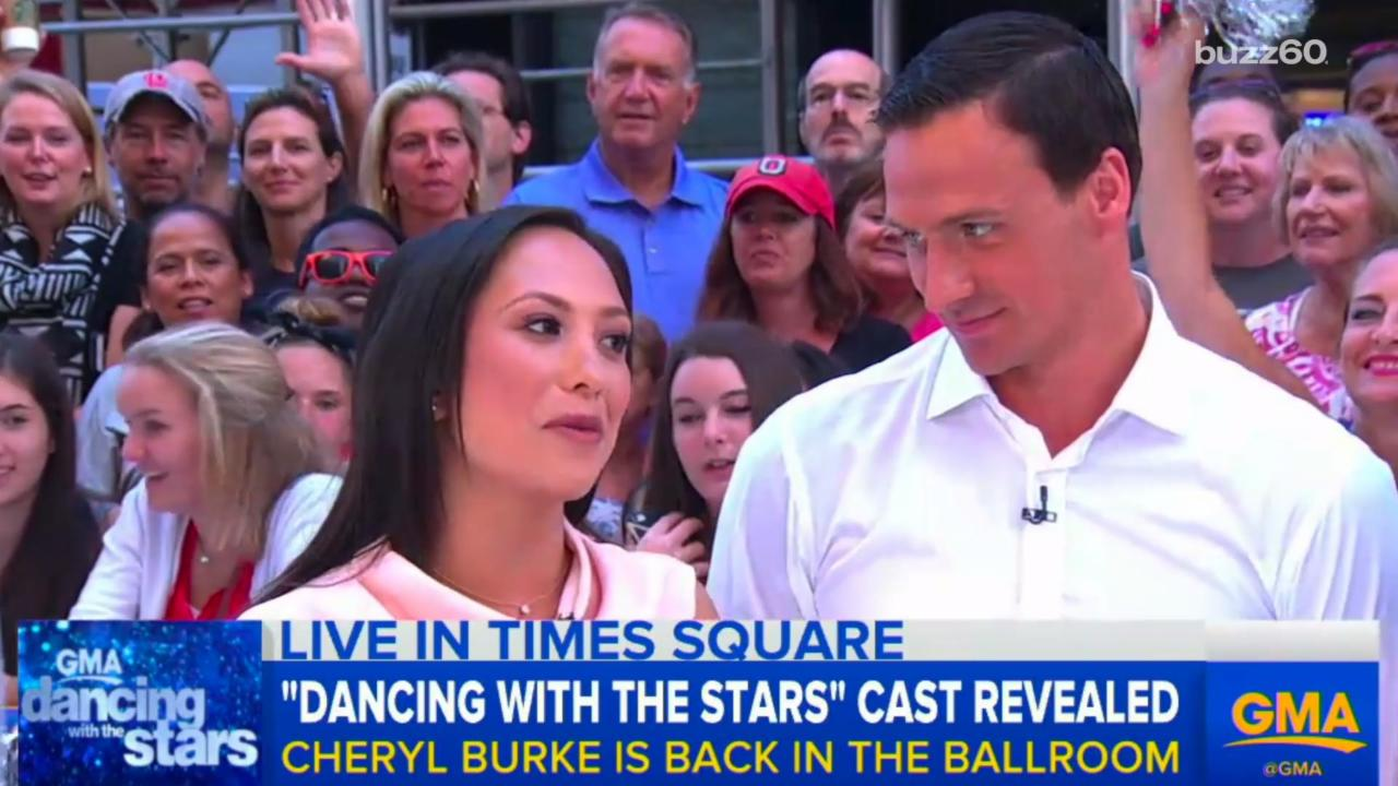 Ryan Lochte Giving his 'DWTS' Partner the Eye Drives Internet Crazy