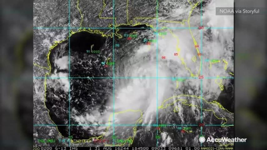 Tropical Storm Hermine takes shape