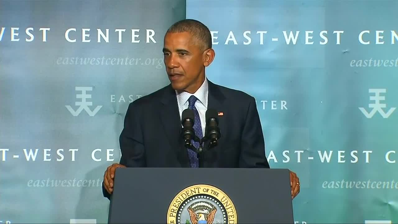 Obama highlights climate progress in Hawaii