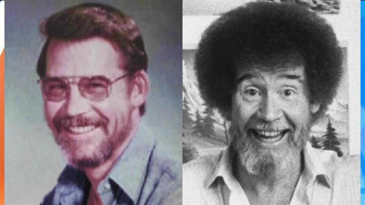 Yes, Bob Ross' curly hair was actually straight